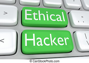 Ethical Hacker concept - 3D illustration of computer...