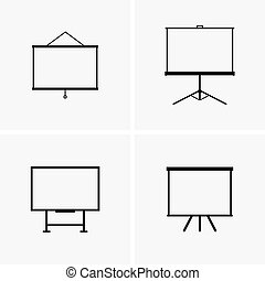 Projector screens - Set of four projector screens