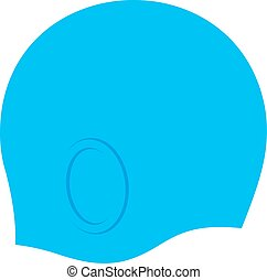 Swim cap, blue
