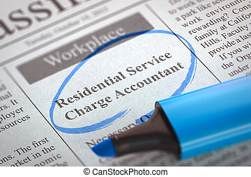 We're Hiring Residential Service Charge Accountant. 3D. -...
