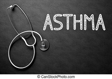 Chalkboard with Asthma. 3D Illustration. - Medical Concept:...