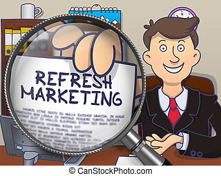 Refresh Marketing through Lens. Doodle Design. - Man in Suit...