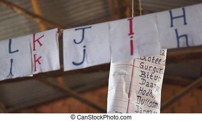 Ethiopian letters inside of school - Ethiopian letters...