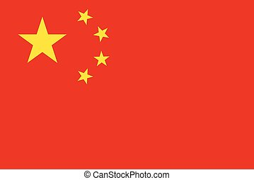 Official vector flag of China . People's Republic of China .