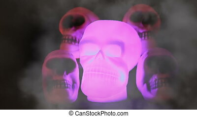 Spooky Burning Skulls