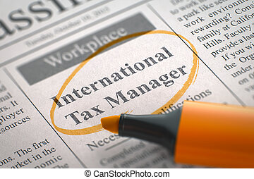 International Tax Manager Join Our Team. 3D. - Newspaper...