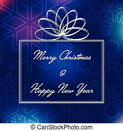 Merry Christmas & Happy New Year Card Vector Illustration
