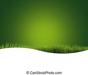 green grass intensive green 3D render nature background