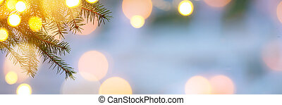 Christmas Holidays background with Xmas tree light -...