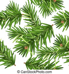 Pine tree branch seamless background