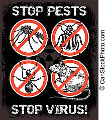 Sketch Pest Control Insect Poster