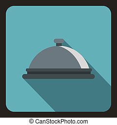 Cloche icon, flat style - icon. Flat illustration of vector...