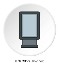 Advertising sign icon, flat style - Advertising sign icon....