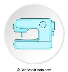 Sewing machine logo, flat style - Sewing machine logo. Flat...