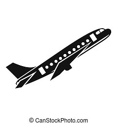 Aircraft icon, simple style - icon. Simple illustration of...