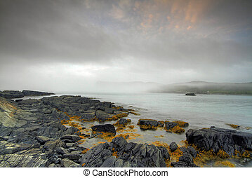 Atlantic Seascape - Early morning fog along the Atlantic...