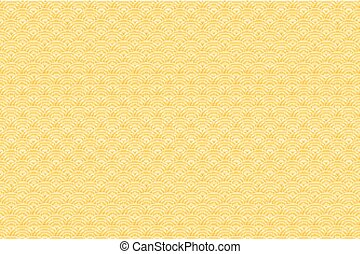 Chinese yellow gold seamless pattern dragon fish scales simple seamless pattern Nature background with japanese wave circle pattern vector korean