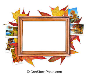 Fall frame - Frame with autumn theme on the white background