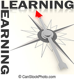 Compass with learning word isolated