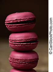 red macarons with a retro effect