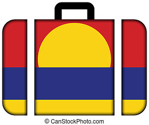 Flag of Palmyra Atoll (unofficial). Suitcase icon, travel...