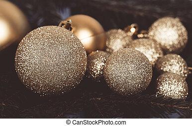 Festive glitter: christmas decoration bauble seasonal winter holidays