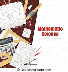 Mathematic Science Background Poster - Mathematic science...