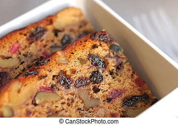 Slices of fruit cake