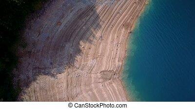 Aerial, Pivsko Jezero At Pluzine, Montenegro. Graded and...