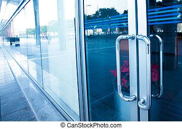 office building - door of the office building in shanghai...