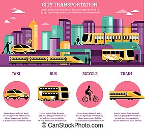 City Transportation Infographics Layout - City...