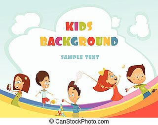 Playing Kids Background