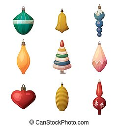 2017 fir-tree decoration baubles and bokeh ornament. New...