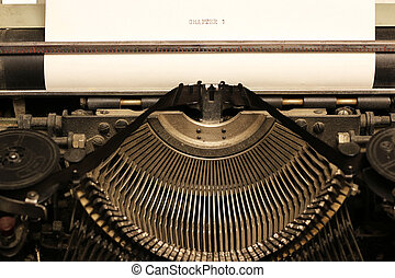 retro typewriter - Instruments employee news agency the...