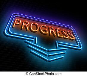 Progress sign concept.