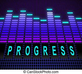 Progress levels concept. - Illustration depicting equalizer...