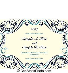 Vector Formal Background Frame - Vector floral frame with...