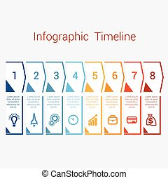 Timeline Infographic for eight position - Timeline...