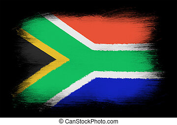 The Republic of South Africa flag - Painted grunge flag,...