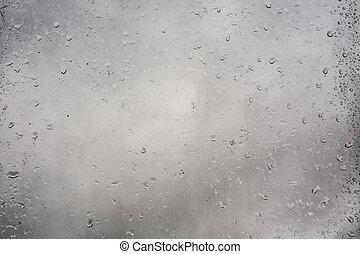 Rain Drops on Window - Drops of rain on a grunge window...