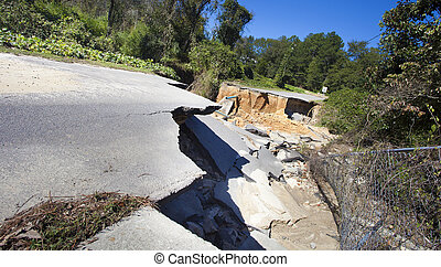 Hurricane Matthews work - Road and pipes gone after...