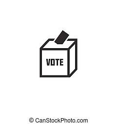 Voting Concept - Vote At Ballot Box Icon