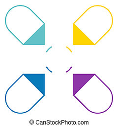 Arrows arranged in circle 4 positions - Infographic 4...