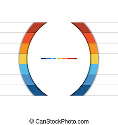 Infographic Strips and semicircle 7 position - Template...
