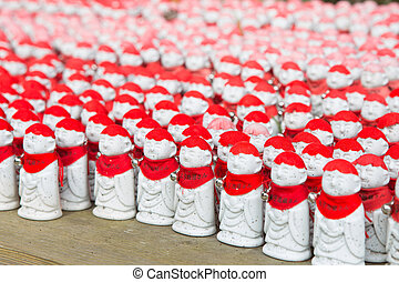 japan - Selective focus Jizo statues at the temple of Zen in...