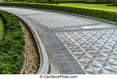 Concrete Pathway in the park - Concrete pathway in the park...
