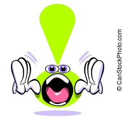 Shout! - Cartoon emoticon exclamation mark character...