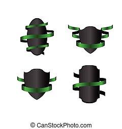 Set of heraldry shields