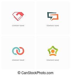 Team work and conversation logo