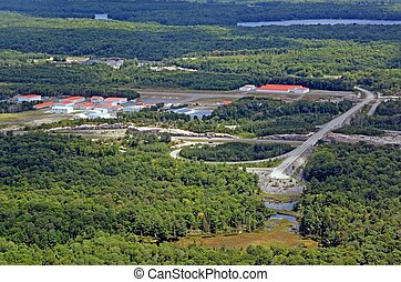 Parry Sound Area Municipal Airport - aerial view of an...
